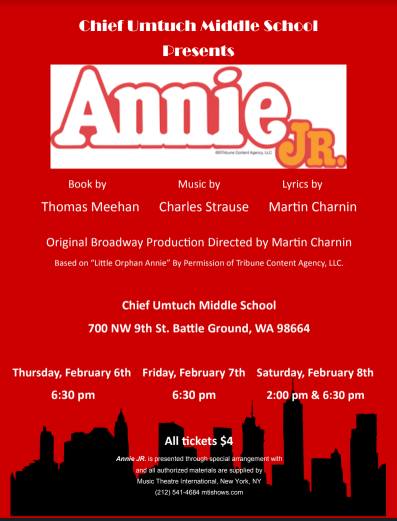 Poster for Annie, Jr.